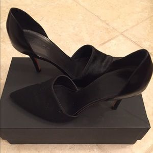 Vince 'Claire' Black Calf Hair/Leather Pump, 8.5